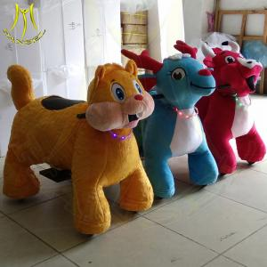 China Hansel high quality stuffed motorized plush riding animals for mall on sale