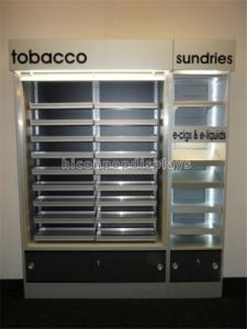China Custom POP Merchandise Displays Floor Stand Led Lighting Cigarette Display Stand on sale