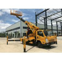 Automatic 12m Cherry Picker Aerial Lift Truck Electronical Controlled Lifting