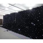 Black velvet stage curtain  fairy lights curtain led wedding backdrop curtains