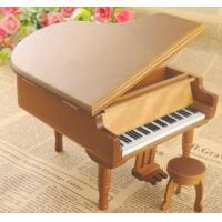 Natural wooden music box piano music box