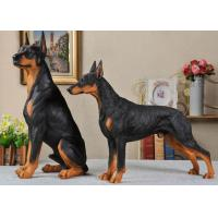 China Resin Material Simulation Dog For Garden Decoration / Home Security on sale