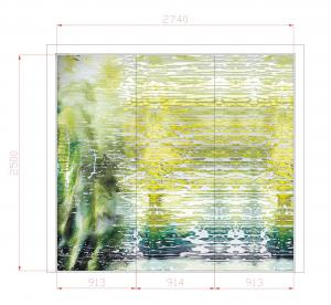 China Art Decorative Interior Glass Wall Panels For Counter Decor , 3600mm × 2400mm on sale