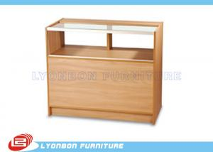 China ODM MDF One - Third Vision Cash Register Counter Ample Storage With Adjustable Shelf on sale