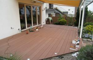 China Durable WPC Decking Flooring , Engineered WPC Decking Lumber Board on sale
