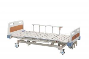 China Folding Adjustable Medical Manual Hospital Bed Metal For Patient on sale