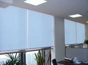 China Latest designs vertical sunscreen fabric indoor smart blind for window on sale