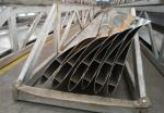 Silvery Powder Painted Exhaust Fan Blades / Aluminum Extrusion Profiles