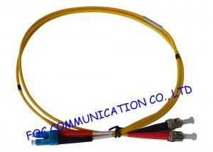 China LC - ST SM Fiber Optic Patch Cord , Single Mode fiber optic network cable on sale