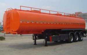 China Carbon steel oil tanker trailer 54000 liters with European system on sale