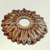 Dia10mm*3mm metal flower shaped tags for apparel & bags,aluminum alloy,can OEM per drawing