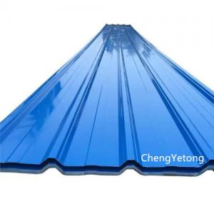 China SMP Coating Galvanized Steel Roofing Sheets , Plant / Workshop Stone Coated Roofing Sheet on sale