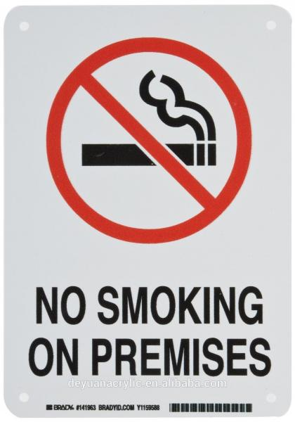 photo about Printable No Smoking Sign named Business POP Acrylic Signal Board , Business Printable No