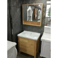 China Burlywood Color 32 Inch Single Sink Bathroom Vanity , Square Bathroom Cabinet on sale