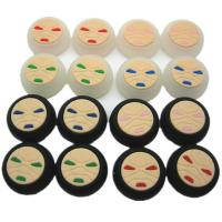 Face Pattern Silicon Thumbstick Thumb Grip Stick Joystick Cap Cover Case for PS4 Xbox one PS3 Xbox 360 Controller