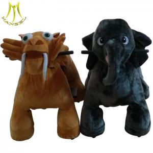 China Hansel amusement park coin operated plush electronic kid riding elephant toy on sale