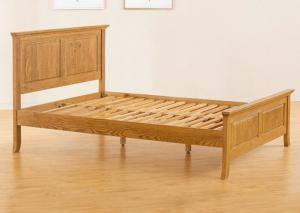 China Teenage Student Wooden Single Bed Frame , Comfortable Real Wood Bed Frame on sale