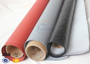 China Red Silicone Rubber Coated High Silica Fabric for Welding Protection 1.4mm on sale