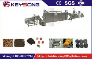 China Custom Floating Fish Feed Pellet Making Machine , Fish Meal Processing Equipment on sale