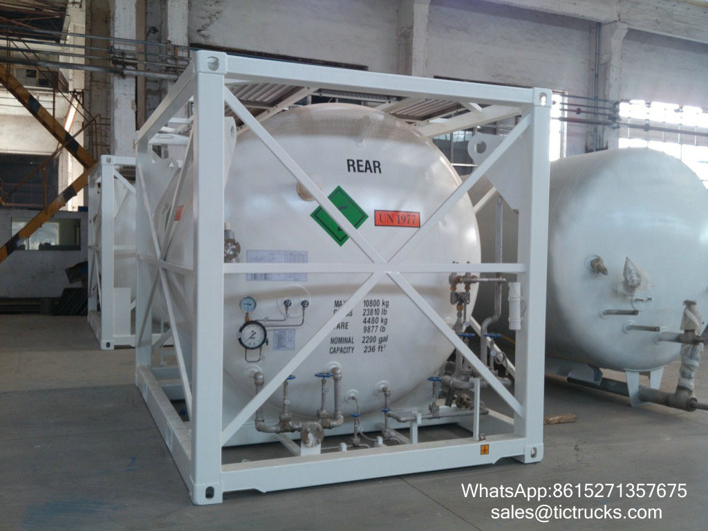 Portable iso Tank Container T75 liquid oxygen cryogenic