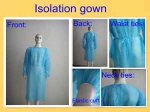 Quality SMS PP Disposable Surgical Gown , Medical Isolation Gowns For Patient Round Neck for sale