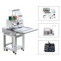 China Touch Screen Computerized Single Head Cap Embroidery Machine Wooden Packing on sale