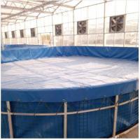 Foldable Steel Mesh Tarpaulin Fish Tank For Fish Feeding , 10000 L Volume