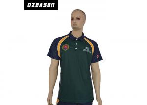China cut and sew 100% polyester quick dry sublimation printing company polo t-shirt design on sale