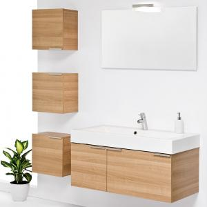 Quality Wall Mounted customized modern red birch solid wood bathroom vanity base for sale