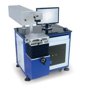 China Plastic Animal Ear Tag UV Laser Marking Machine Desktop Type Structure on sale