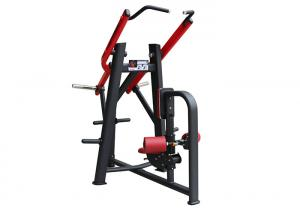 China Free Weights Plate Loaded Lat Pulldown Machine Red Color For Gym Fitness Center on sale