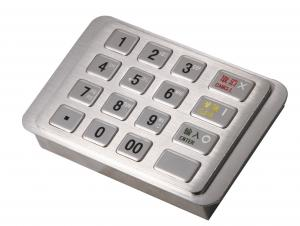 China IP65 Dust-free Stainless Encrypting Keypad PCI EPP With Remote Key Loading ( RKL ) on sale