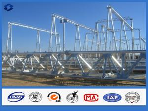 China Hot Dip Galvanized Electricity Transmission Substation Structure Steel Pole on sale