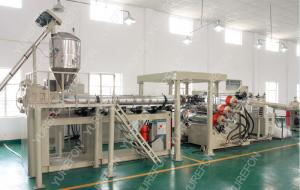 China Automatic Sheet Extruder Production Line With PET Non - Crystallization Extruding System on sale