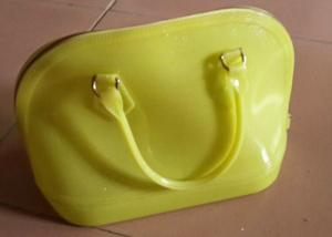 China Yellow Silicone Handbag / Purse For Ladies , Unique Purses , Tote Bag on sale