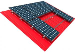 China 10kw Solar Panel Roof Mounting Systems Pitched Corrugated Trapezoidal Standing Seam PV Structure on sale