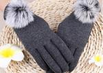 China Winter Women'S Gloves With Touch Screen Fingertips , Soft Gloves For Cell Phone Use  wholesale