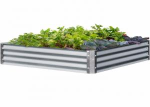 China Fast Assembly Galvanized Raised Beds , Light Weight Raised Vegetable Beds on sale