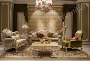 Quality Living Room Sofa Set Italian Classic Sofa Company Fabric Sofa  Upholstery FF 101 For Sale ...