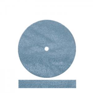 China Dedeco Dental Polishing Tools Blue Abrasive Rubber Wheel High Glaze Properties on sale
