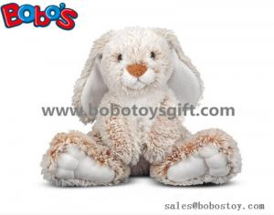 China 25cm Baby Plush Sitting Rabbit Animal Toy with Long Ears and Big Feet on sale