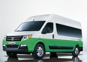 China Travel Small Electric Powered Van / 15 Seats Long Wheelbase High Roof Dongfeng Mini Bus on sale