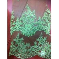 China french lace with stones for wedding dress,Net embroidery with stones for garments on sale