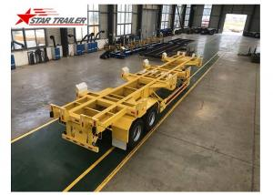 China 65T 40 Ft Semi Trailer Folding Hydraulic Type For Transporting Heavy Duty Equipment on sale