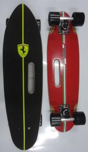 China Customized Caphone Plate Canadian Maple Skateboard Ferrari Handle on sale