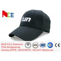 FUN 6 Panels Mens Sports Hats , Relaxed Black Cool Sports Fitted Caps