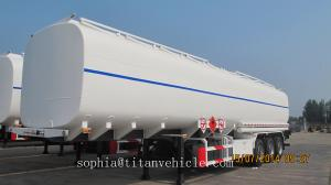 China TITAN  2017 Crude Oil Tank Trailer , Carbon steel oil tanker trailer 54000 liters with European system on sale