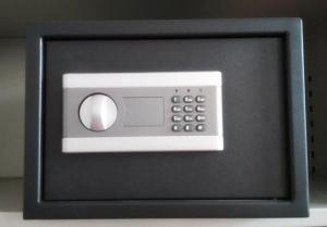 China Quick Access Small Gun Safe Digital Code Desk Drawer Mounted Powder Coated on sale