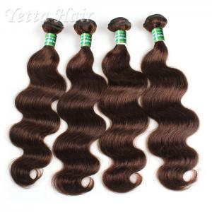 China Tangle Free 100 Indian Remy Hair , Body Wave Hair Extensions Soft / Glossy / Clean on sale