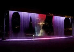 China Wall Decorative Digital Water Curtain Fountain For Hotel Lobby Office And Home on sale